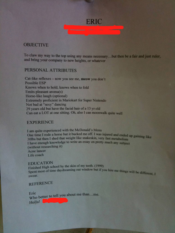 13 completely insane resumes that may actually be better than yours share fandeluxe Choice Image