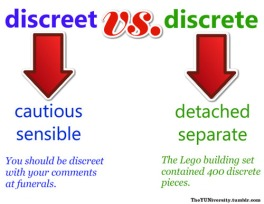 confusing words discreet and discrete