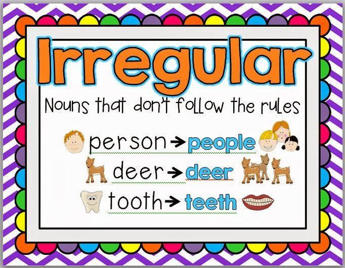 list of 100 irregular plural nouns in english