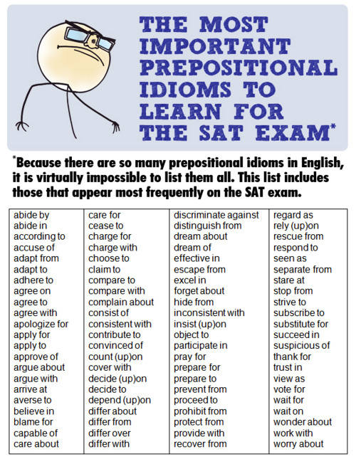 idiomatic prepositional phrases