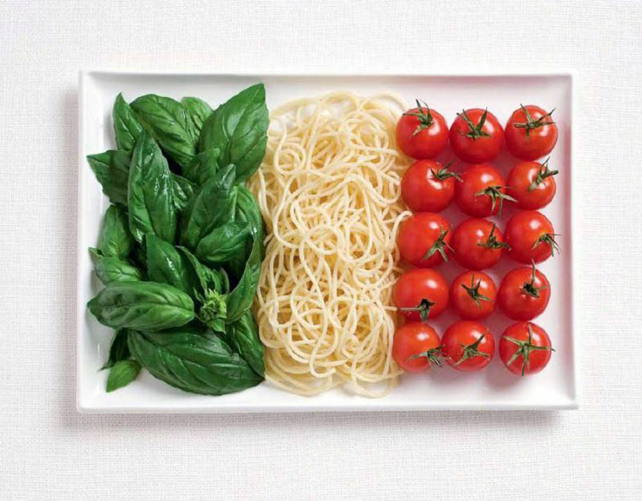 ITALY – Basil, pasta, tomoatoes