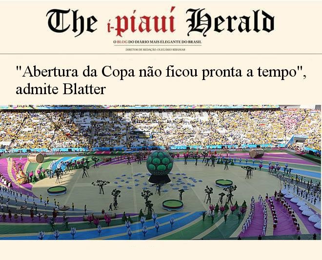 "Blatter admits: ""WC opening was not ready on time."""